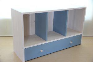 おもちゃ箱付き絵本棚の商品構成拡大写真