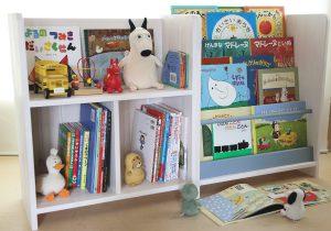 フリースペース付き絵本棚とディスプレイ絵本棚