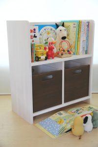 絵本棚とおもちゃ箱 チョコ