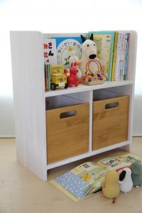 絵本棚とおもちゃ箱 キャラメル