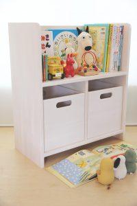 絵本棚とおもちゃ箱 ホワイト