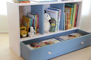 おもちゃ箱付き絵本棚wideの商品ページへ